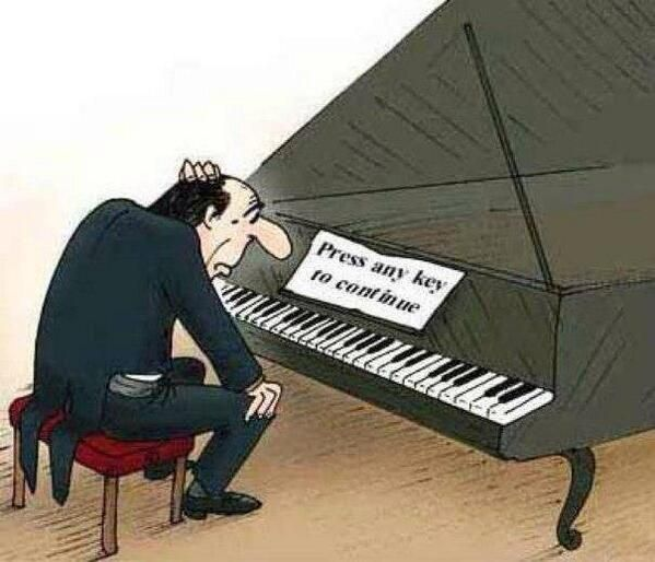 press any key piano comic